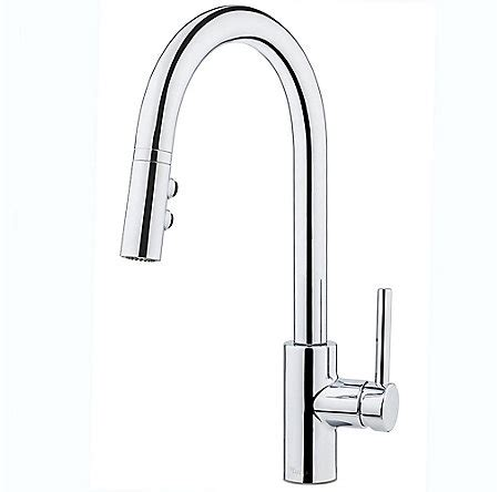 polished chrome stellen 1 handle pull kitchen faucet