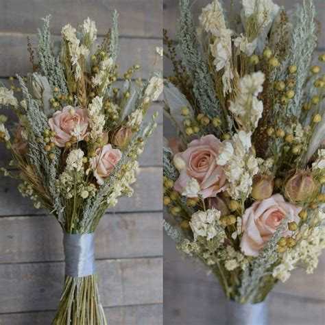 wedding bouquet natural dried preserved