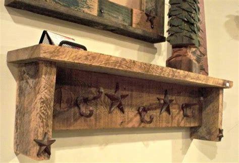 Barn Wood Shelf With Castiron