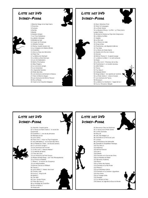 liste one liste dvd disney par virginie fichier pdf