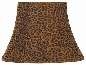 Traditional leopard print bell lamp shade 7x12x85 spider for Floor lamp with leopard shade