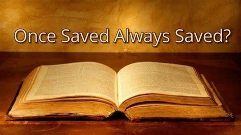 eternal security    saved