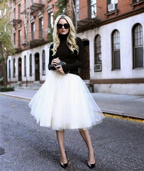 circular mesh top new puff chiffon tulle skirt white faldas high waist