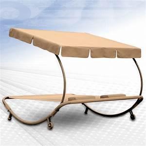 Chaise Bain De Soleil : chaise longue bain de soleil lit de jardin 2 places ~ Teatrodelosmanantiales.com Idées de Décoration