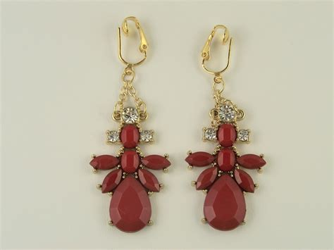 collection chandelier clip on earrings