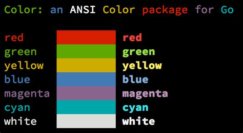 color js github fatih color color package for go golang