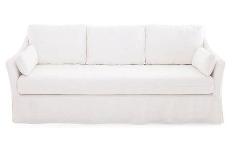 white slip covered sofa white linen slipcover sofa www energywarden net