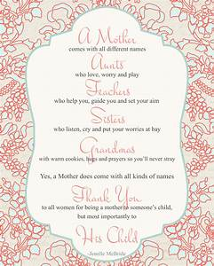 Mother's Day poem for all women {Printable | Poem, Big and ...