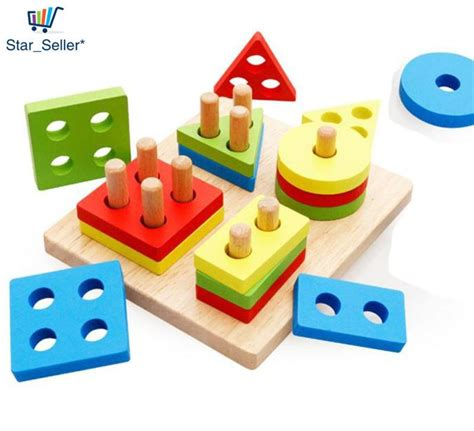early childhood childrens educational toys wooden pole