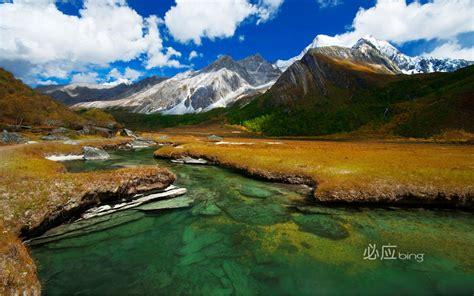 beautiful lake mountains full hd nature background