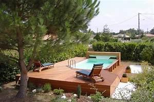 Piscines Semi Enterrées : quel est le prix d 39 une piscine en bois ~ Zukunftsfamilie.com Idées de Décoration