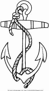 Rope Anchor Coloring Template Pages Bible sketch template
