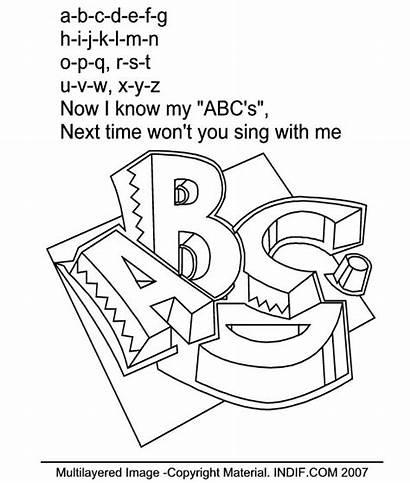 Coloring Song English Sheets Rhymes Select Right