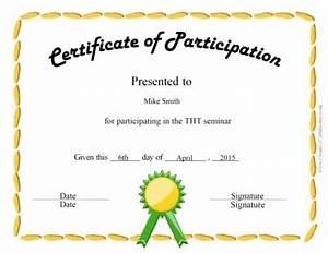 certificate of attendance seminar template - free certificate of participation customize online print