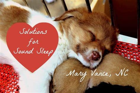 secrets  sound sleep mary vance nc