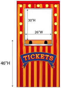 rent carnival carnival ticket booth photo cardboard cutout standup prop