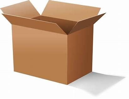 Box Open Clipart Cardboard Clip Title Clker