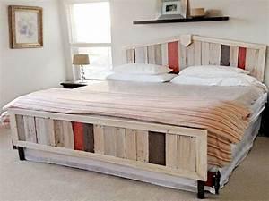 Lit En Palette Avec Rangement : fabriquer tete de lit avec rangement 15 34 id233es de lit en palette bois a faire pour la ~ Melissatoandfro.com Idées de Décoration