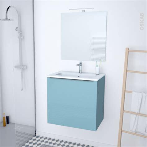 meuble de salle de bains plan vasque rezo keria bleu 1 porte c 244 t 233 s d 233 cors l60 5 x h58 5 x p40 5