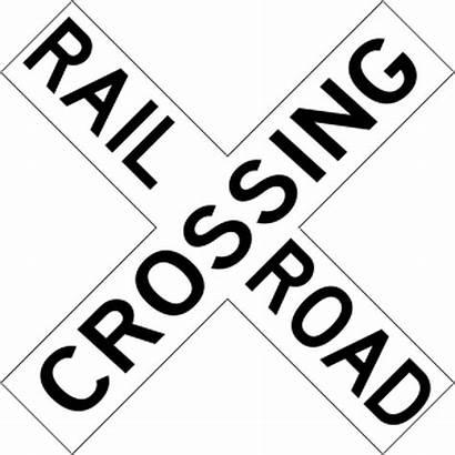 Crossing Railroad Trail Regulatory Stencil Current