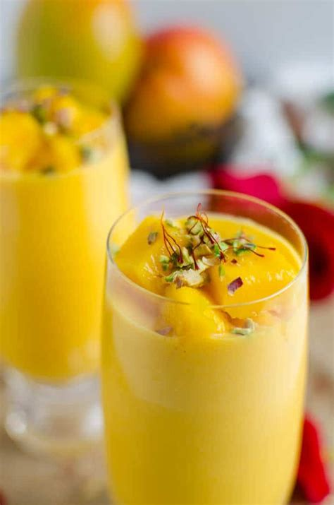 quick  easy recipe  mango lassi restaurant style