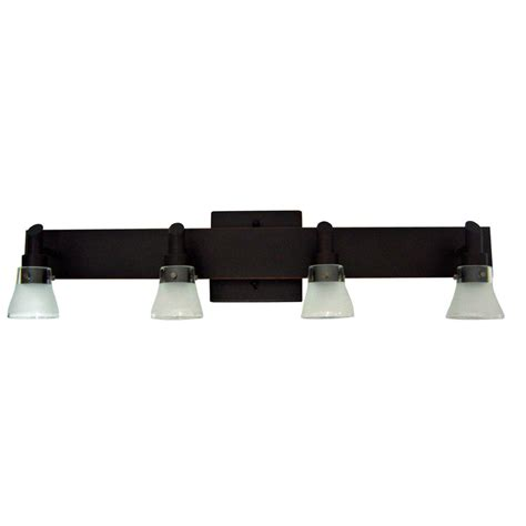 shop portfolio 4 light rubbed bronze bathroom vanity
