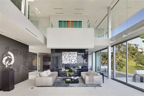 modern mansion interior the essence of modern living above la luxury mansion in hollywood freshome com