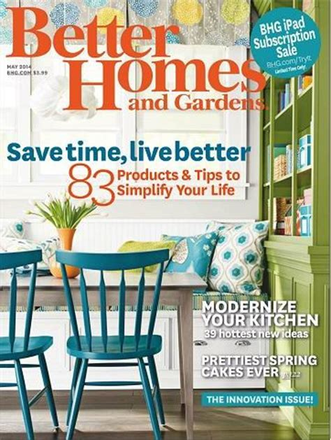 Better Homes And Gardens Magazine, May 2014 The