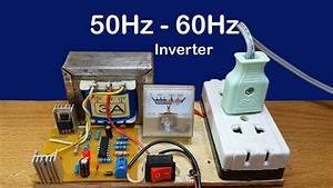 How To Make Mini Inverter 12v To 220v Used Ic Ka3525a Circuit 50hz To 60hz