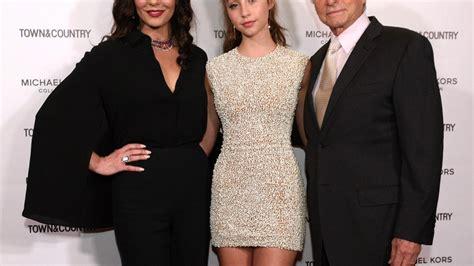Catherine Zeta-Jones Supports Stunning Look-Alike Daughter ...