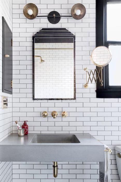 classic brass black  white bathroom  home