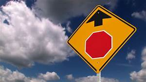 Stop, Ahead, Road, Sign, 746, Stock, Video, Footage