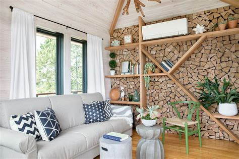 Wohnzimmer Ideen Holz by Diy Firewood Accent Wall How Tos Diy