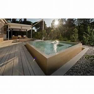 une piscine en beton hors sol une installation solide With faire une piscine en beton