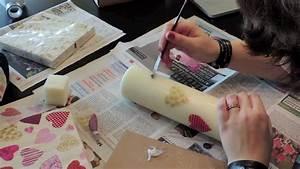 Kerzen Verzieren Weihnachten : 1 t rchen kerzen mit serviettentechnik gestalten youtube ~ Eleganceandgraceweddings.com Haus und Dekorationen