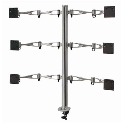 6 monitor desk mount six monitor desk mount monitor arm monitor mount