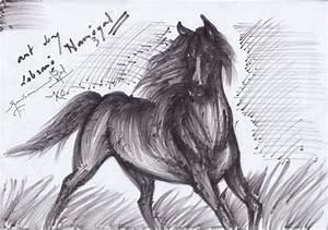 Horse Pencil Sketch | DesiPainters.com