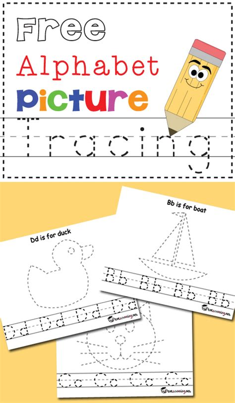 free alphabet amp picture tracing printables totschooling 313 | new%2Bcover