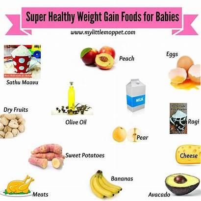 Gain Weight Foods Healthy Babies Gaining Chart