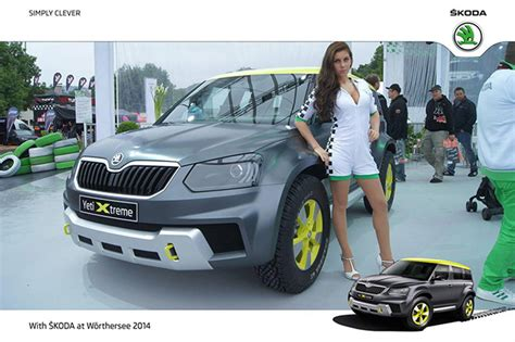 yeti skoda worthersee concept xtreme modifications debuts interior crossover extreme motoroids
