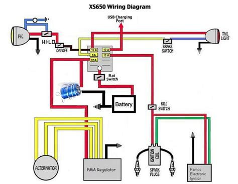 xs650 pma wiring diagram 24 wiring diagram images