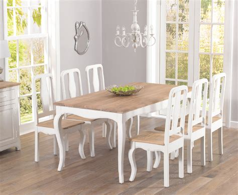 shabby chic table and chairs parisian 175cm shabby chic dining table and chairs jabberset