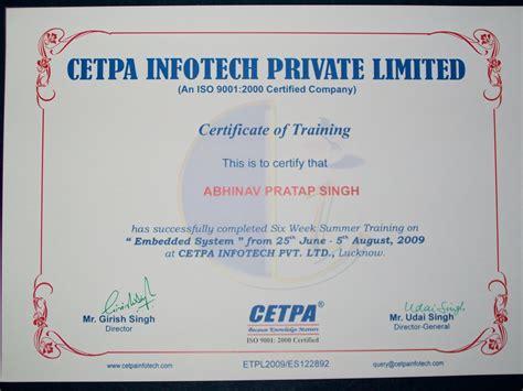 certificate courses cetpa infotech pvt ltd summer at noida delhi ncr