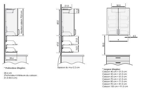 profondeur meuble haut cuisine etagere meuble cuisine meuble de cuisine hva 4 tiroirs 1
