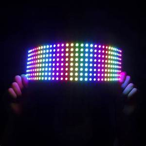 Flexible Rgb Led Matrix 8x32  Ws2812b