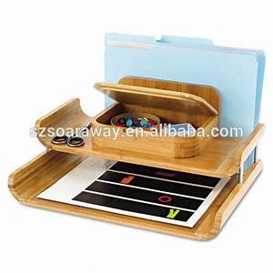 bamboo office desk organizer letter tray wholesale file With letter tray desk organizer