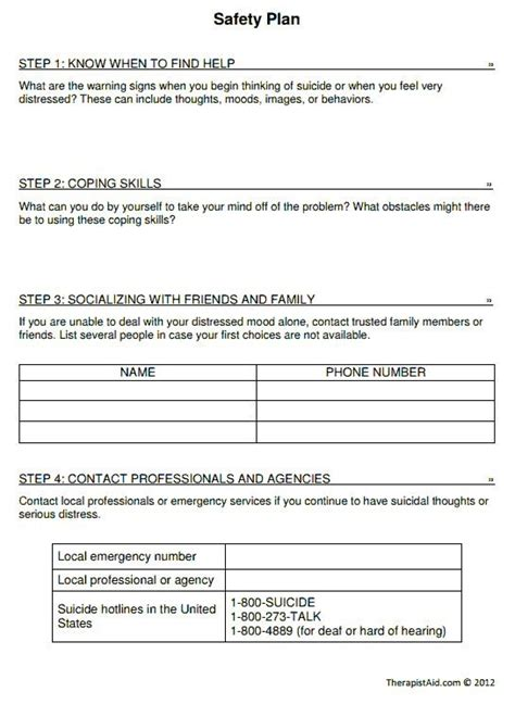 Women With Ptsd United Worksheets And Journal Page