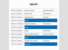 8+ Training Agenda Samples Sample Templates