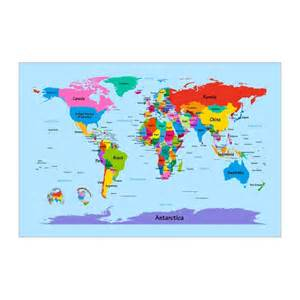 Big World Map for Kids