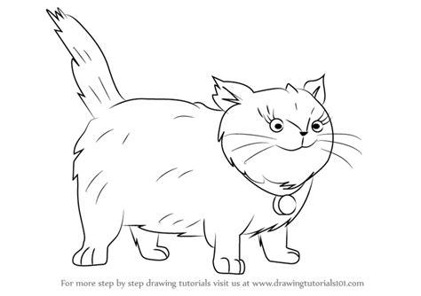 learn   draw fluffy  cat  horrid henry horrid